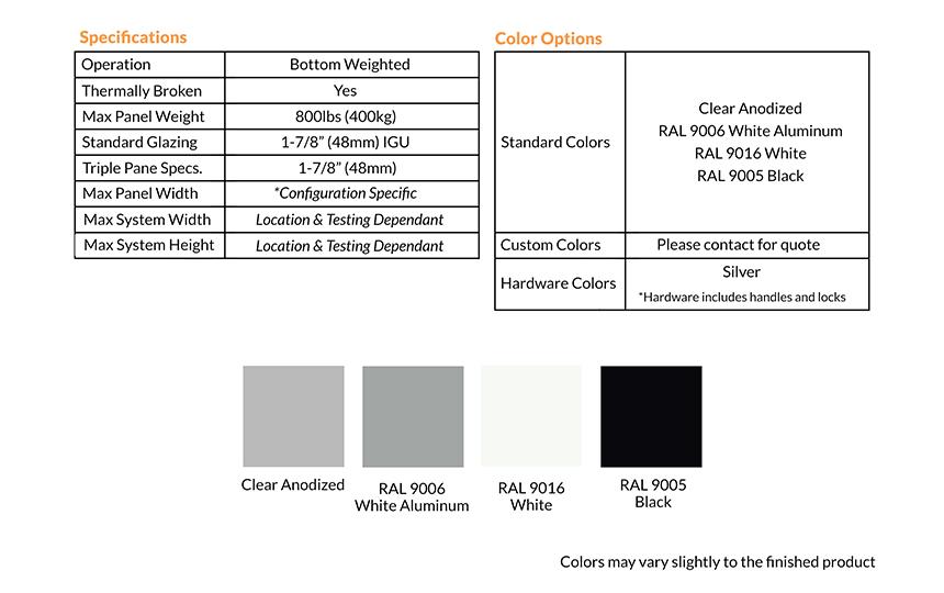 EliteSlide Color Options