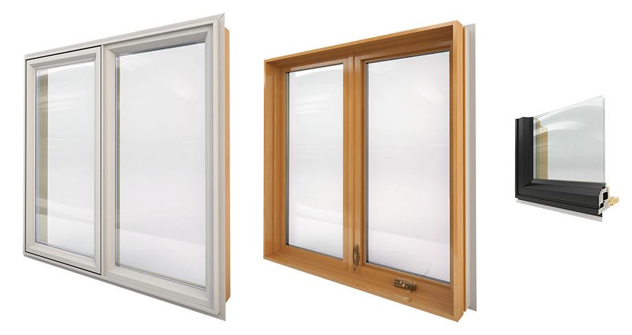 Combo Wood Hybrid Windows