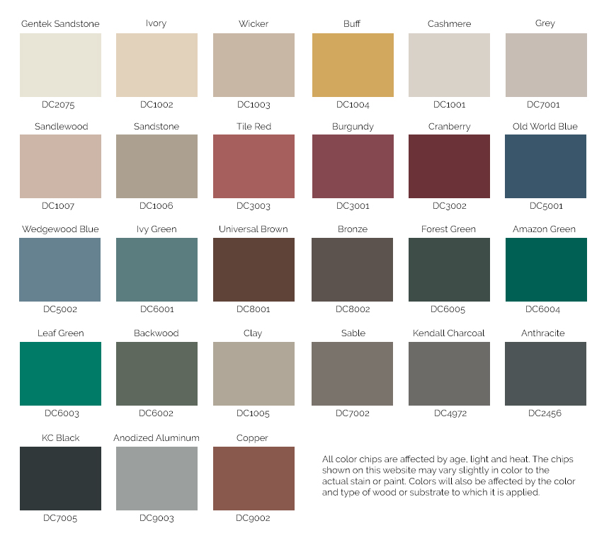 Westeck Vinyl Slider Window Colors