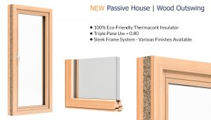 Westeck Passive House - Wood Outswing Window