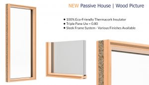 Westeck Passive House - Wood Picture Window