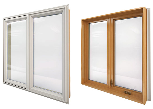 Combo Wood Hybrid Casement Windows