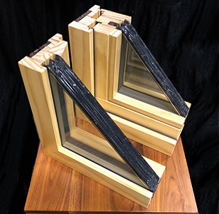 Westeck passive house certified windows cross section