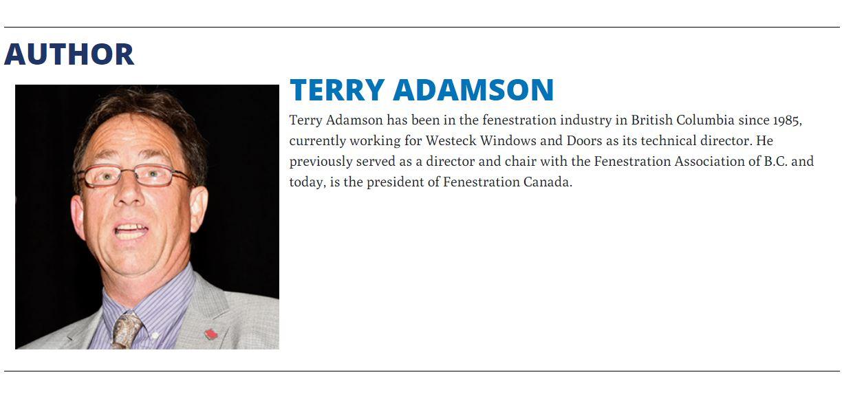Terry Adamson - Westeck Windows and Doors